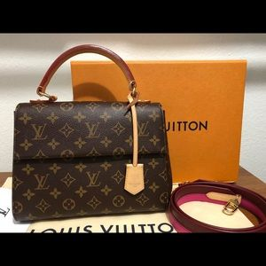 💯 Authentic Louis Vuitton Cluny BB in Fuchsia